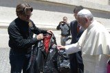 Pope Francis got his own leather jacket and two bikes from the Harley-Davidson company