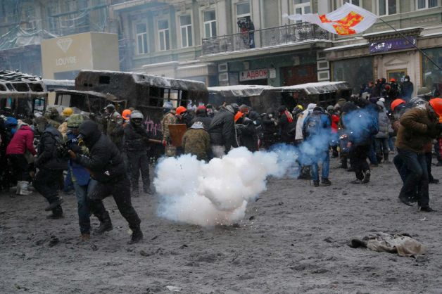 Prosecutors confirmed two people had died from bullet wounds in Kiev clashes