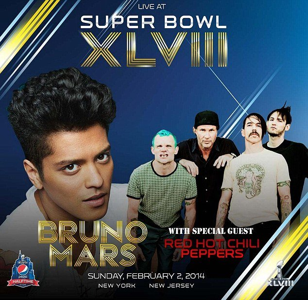 Red Hot Chili Peppers will join Bruno Mars as half-time performers at this year's Super Bowl