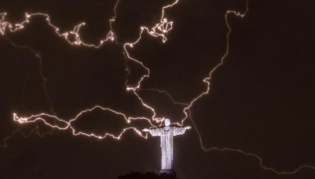 Rio de Janeiro's iconic Christ the Redeemer statue has been damaged by a lightning strike