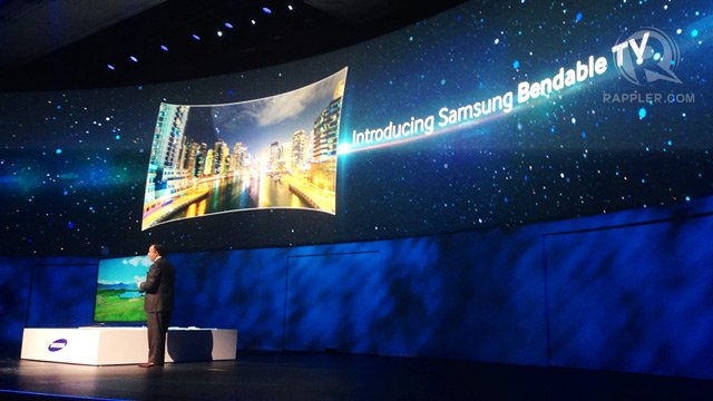 Samsung has unveiled the Bendable TV at CES 2014
