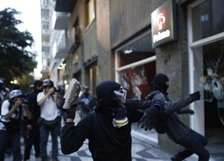 Sao Paulo peaceful protest was marred by sporadic acts of vandalism which turned into clashes with the police
