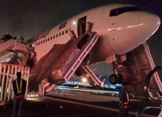 The 767-300ER aircraft was arriving from the Iranian city of Mashhad with 315 people on board