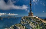 The Heroes' Cross is placed at 2,291 m altitude in the Bucegi Mountains of the Southern Carpathians
