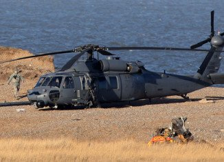 The US Navy MH-53E Sea Dragon helicopter had five people on board when crashed off the coast of Norfolk