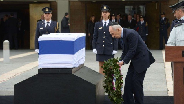 Thousands of mourners paid their final respects to Ariel Sharon