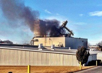 Two people have died and 10 others were seriously hurt in an explosion and partial building collapse at an animal feed processing plant in Omaha