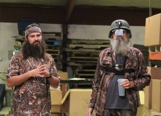 Uncle Si Robertson strapped a camera on top of a war helmet to give viewers a point-of-view look into the life of Si