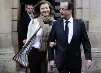 Valerie Trierweiler and Francois Hollande are not married but have been together for six years, making her the de facto first lady