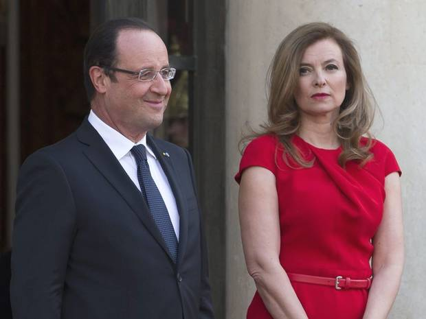 Valerie Trierweiler has said that hearing news of Francois Hollande's affair was like falling from a skyscraper