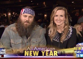 Willie and Korie Robertson had only kind words for the A&E network and New Year's wishes for the nation on Fox News's All-American New Year special