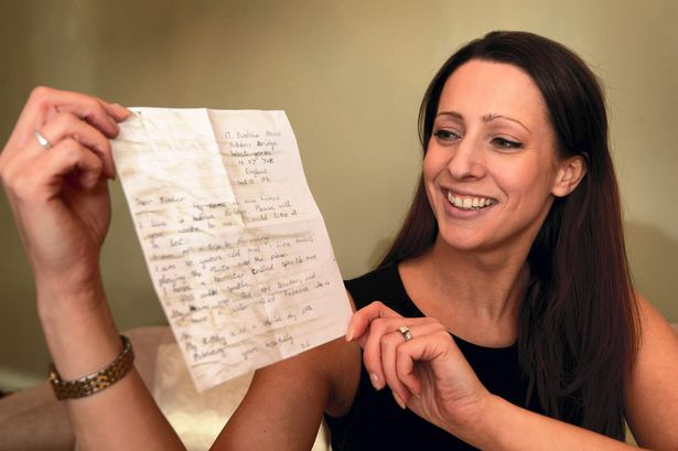 Zoe Averianov threw a message in a bottle into the North Sea 23 years ago