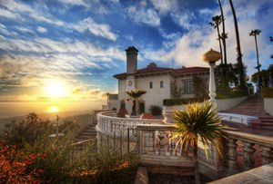 Sunset at Hearst Castle