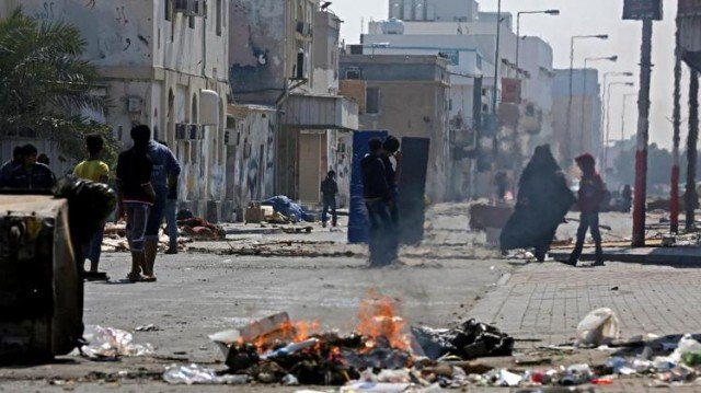 A Bahraini policeman has died of wounds from a bomb blast during protests marking Friday's third anniversary of the country's uprising
