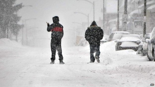 A second wave of heavy snowfall hits the US Northeast