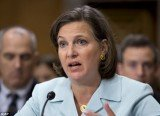 After meeting Ukraine's President Viktor Yanukovych in Kiev, Victoria Nuland said she would not make a public statement on the matter
