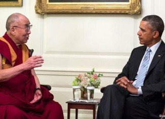 "Barack Obma vowed ""strong support"" for the protection of Tibetans' human rights in China during the encounter with the Dalai Lama"