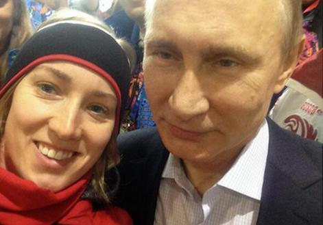 Brittany Schussler posted a selfie with Vladimir Putin on Twitter, saying she should have asked him to be her Valentine
