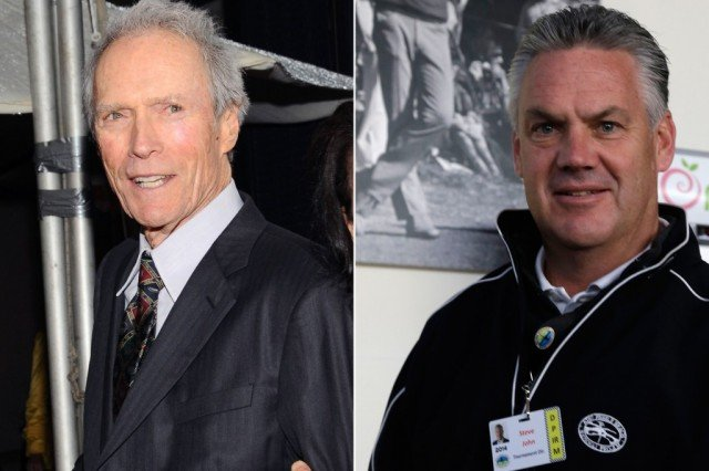 Clint Eastwood has been credited with saving the life of golf tournament director Steve John who was choking on a piece of cheese