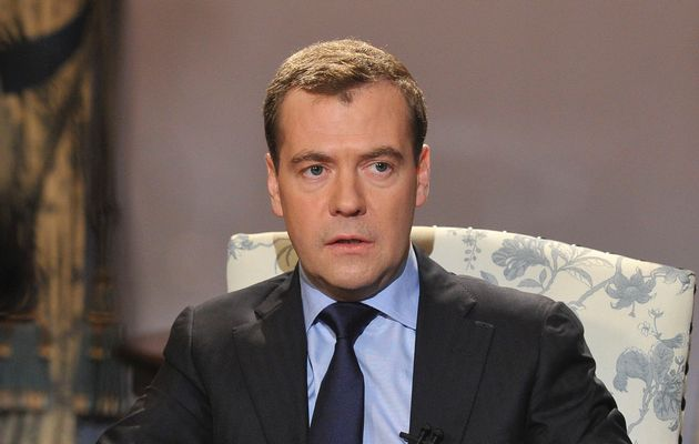 Dmitry Medvedev said Ukraine's interim authorities had conducted an armed mutiny