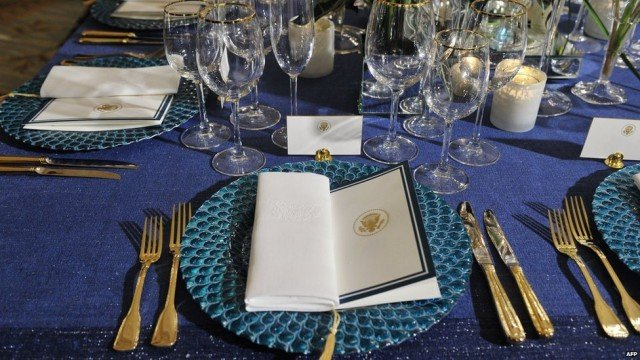 French President Francois Hollande has been honored at a lavish White House state dinner
