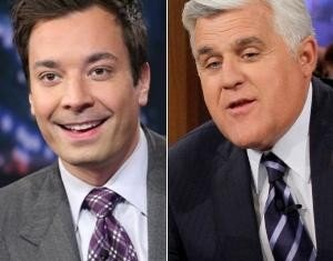 Jimmy Fallon feted his predecessor Jay Leno as the nicest guy in the business