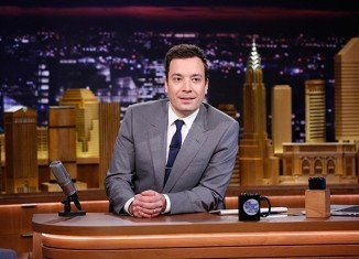 Jimmy Fallon was welcomed on the set of The Tonight Show by a host of top stars, including Robert De Niro, Mike Tyson and Lady Gaga