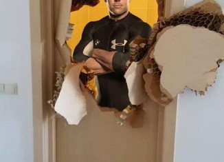 Johnny Quinn made international headlines on the weekend when he was forced to smash through a jammed bathroom door