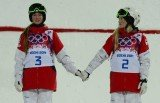 Justine Dufour-Lapointe and her sister Chloe Dufour-Lapointe won gold and silver in the women's moguls at the Sochi 2014 Winter Games