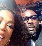 Oprah Winfrey shared her first selfie with fans from the 45th Annual NAACP Image Awards