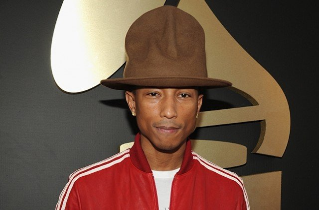 Pharrell Williams is auctioning the hat he wore at this year's Grammy Awards