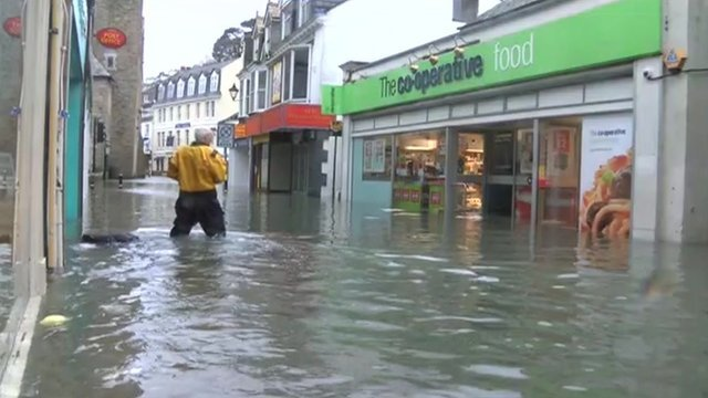 Power supplies and transport have been disrupted after south-west England and south Wales were hit by a powerful storm