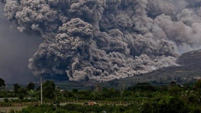 Sinabung volcano has erupted on the Indonesian island of Sumatra, engulfing villages in ash and killing at least 14 people