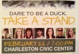 Six stars of Duck Dynasty show were in Charleston for the Dare to be a Duck event to help raise money for a youth-led ministry program