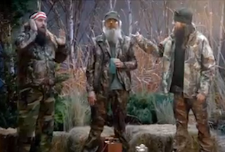 Super Bowl ad for Time Warner Cable's new online streaming service included a brief appearance of some Duck Dynasty cast members