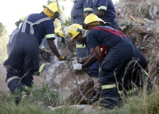 Ten illegal gold miners have been arrested after emerging from the old South African mine