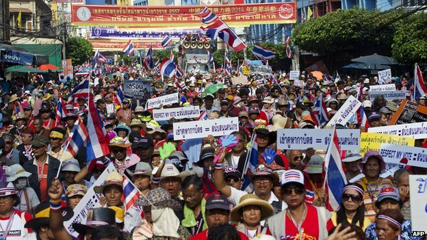 Thai protesters want Yingluck Shinawatra's government replaced by an unelected people's council