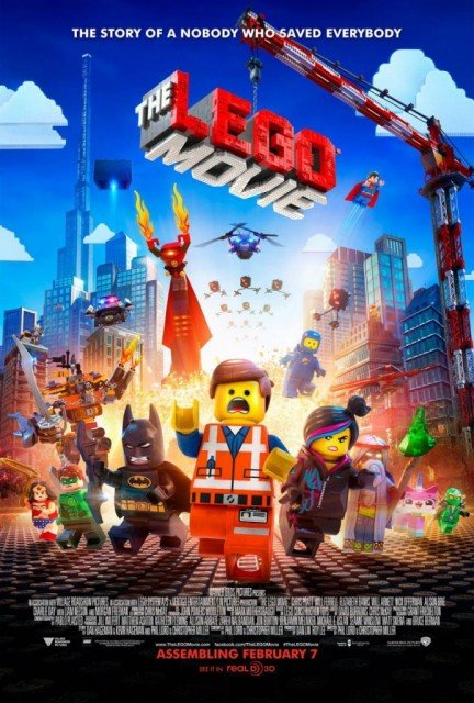 The Lego Movie topped the North American box office this weekend taking $69.1 million