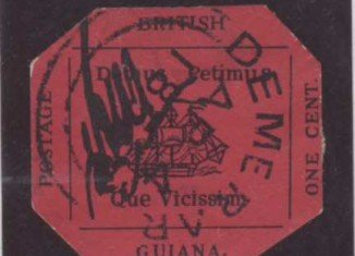 The one-cent Magenta, regarded by collectors as the world's most famous rare stamp, might sell for up to $20 million