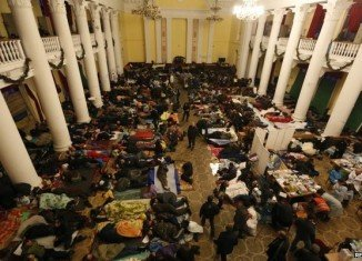 Ukrainian health ministry said 77 people had been killed since Tuesday, and another 577 were injured