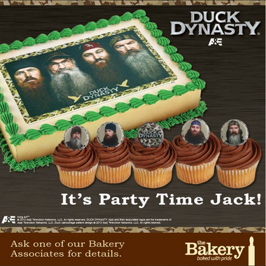 Wal Mart bakery is offering Duck Dynasty birthday cakes and cupcakes
