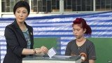 Yingluck Shinawatra, who won the last election in 2011, voted soon after polls opened on Sunday near her Bangkok home