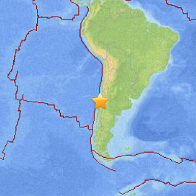 A 6.7-magnitude earthquake hit off the northern coast of Chile on Sunday evening