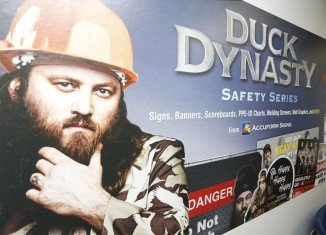 Accuform Signs has teamed up with the A&E to create a new line of Duck Dynasty-inspired workplace safety signs