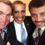 Barack Obama, Bill Nye The Science Guy and Neil deGrasse Tyson team up for a selfie