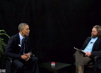 Barack Obama has been interviewed by comedian Zach Galifianakis for his spoof chat show Between Two Ferns