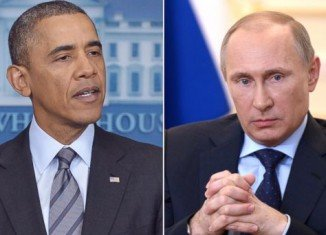 Barack Obama has urged Vladimir Putin to seek a diplomatic solution to the crisis in Ukraine