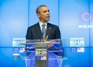 Barack Obama was speaking after talks in Brussels with EU leaders Jose Manuel Barroso and Herman Van Rompuy