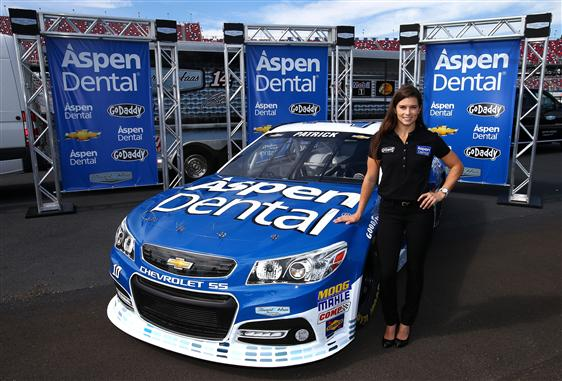 Danica Patrick will be sporting a new look with sponsorship from Aspen Dental at LVMS