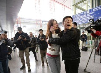 Distraught relatives and loved ones of those on board of Malaysia Airlines jet are being given assistance at the airports